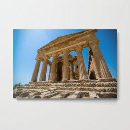 Greece ruined  temple Metal Print