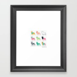 French Bulldogs Framed Art Print