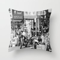seoul Throw Pillows featuring Everyday Seoul by Jennifer Stinson