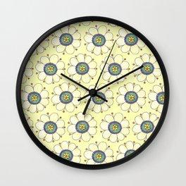 Crazy Daisies Yellow Wall Clock