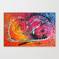 carnival Canvas Prints featuring Carnival by Laura Barbosa Art