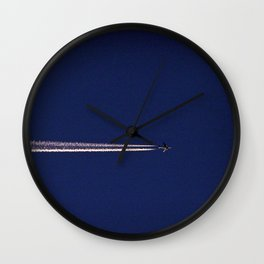 Jet and Contrail Wall Clock