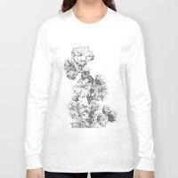 study Long Sleeve T-shirts featuring Flower Study by Trisha Thompson Adams