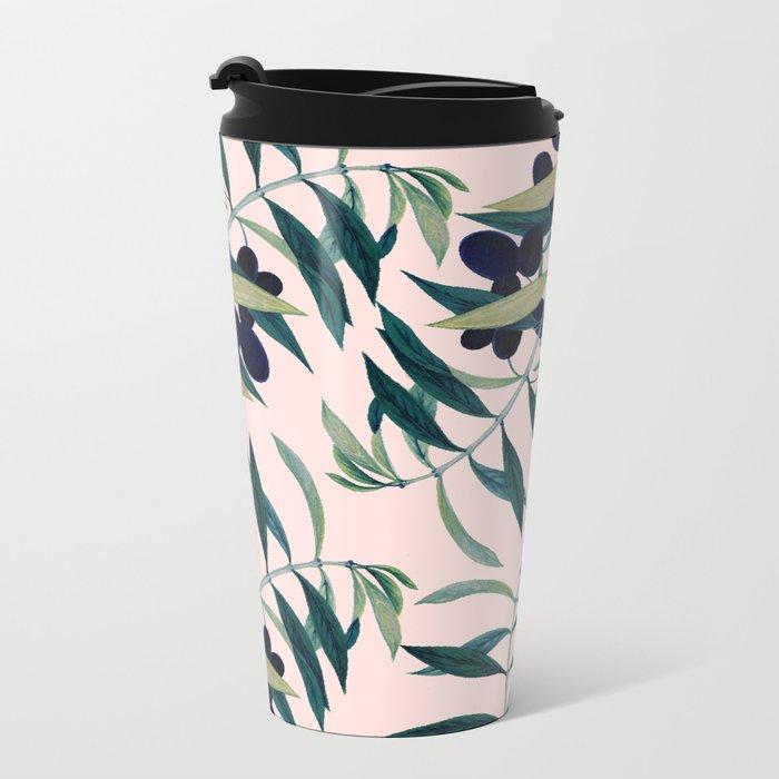 Olive Branch Pattern #society6 #decor #buyart Metal Travel Mug