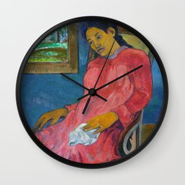 Faaturuma (Melancholic) by Paul Gauguin Wall Clock