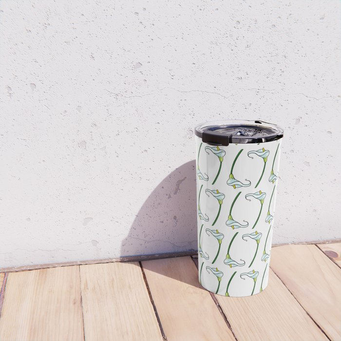 Lilies pattern Travel Mug