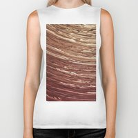 tree rings Biker Tanks featuring Rings by Kathy Dewar