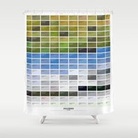iceland Shower Curtains featuring PANTONE glossary - Iceland - Hvalfjörður by Paolo Gianfrancesco