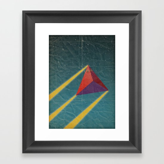 tetrahedra of space Framed Art Print