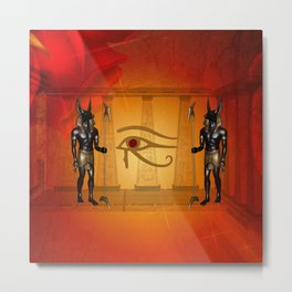 The all seeing eye with anubis Metal Print