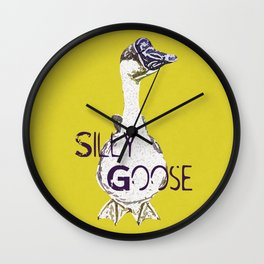 """""""Silly Goose"""" ~ African Goose, Geese Pop Art Photography! Gotta Love the Honkers!  Wall Clock"""