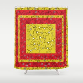 Floral Graphic Design Spring Shower Curtain