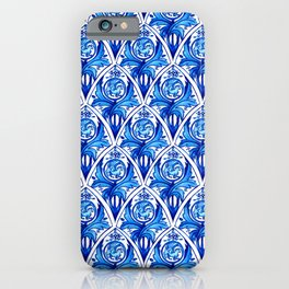 Renaissance gryphon seamless pattern iPhone Case