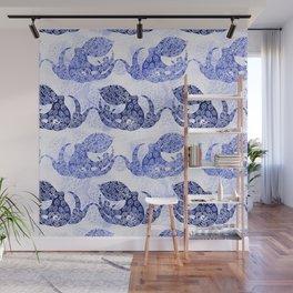 Mythic Octopus - Indigo Wall Mural