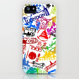 World City Passport Stamps iPhone Case