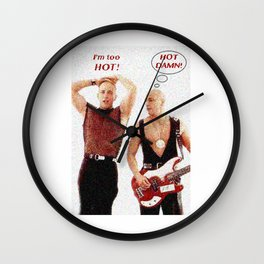 Right Said Fred Sings Uptown Funk Wall Clock