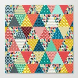llama geo triangles Canvas Print