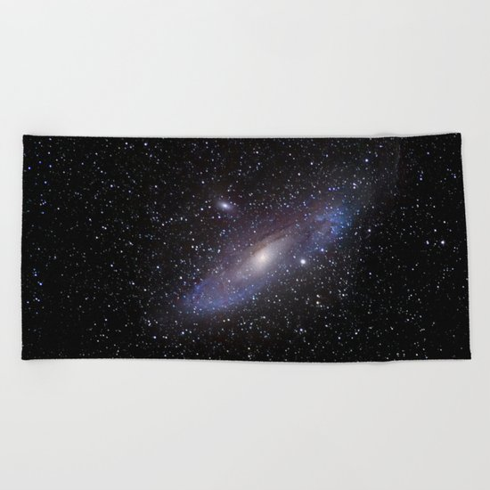 Galaxy Andromeda Beach Towel