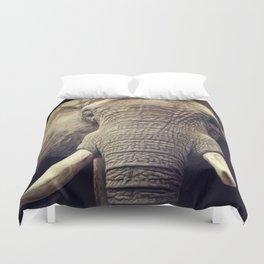 Elephant portrait Duvet Cover