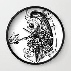 Alien Bounty Hunter in Space by RonkyTonk Wall Clock