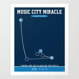 Music City Miracle Art Print