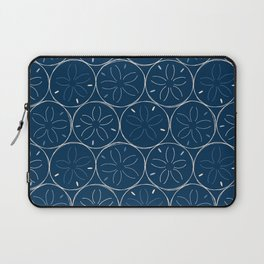 Sanddollar Pattern in Blue Laptop Sleeve