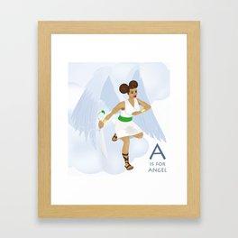 A is for Angel Framed Art Print