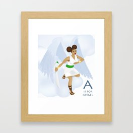 A is for Angel Framed Art Print
