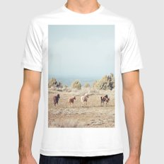 Oregon Wilderness Horses 2X-LARGE Mens Fitted Tee White