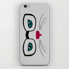 Hipster Cat iPhone & iPod Skin