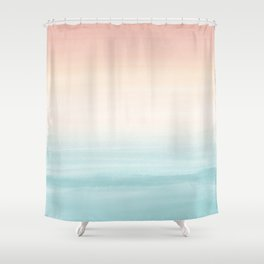 Touching Watercolor Abstract Beach Dream #3 #painting #decor #art #society6 Shower Curtain