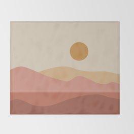 Geometric Landscape 23A Throw Blanket