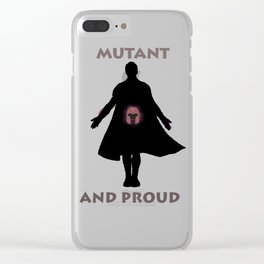 Mutant and proud Clear iPhone Case