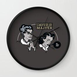 Schadenfreude Master Wall Clock