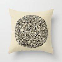 mandala Throw Pillows featuring Mandala by Marcelo Romero