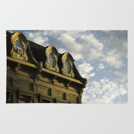 Ornate architecture of Millbrook downtown buildings Rug