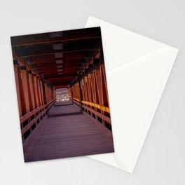Interior Riverwalk Covered Bridge Littleton New Hampshire Ammonoosuc River Color Stationery Cards
