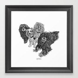Cavaliers family Framed Art Print
