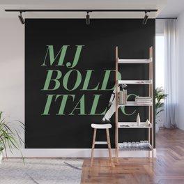 MJ Bold Italic Wall Mural