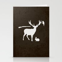 hunter Stationery Cards featuring Hunter by Julia Brnv