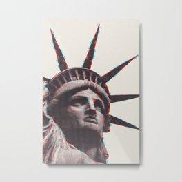 Liberty Statue Art Metal Print