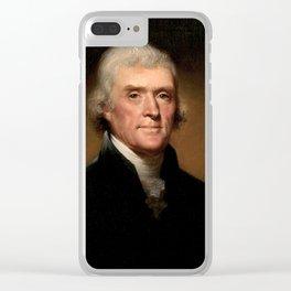 Thomas Jefferson portrait Clear iPhone Case