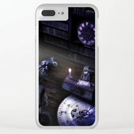 Steampunk Literature: The Raven Clear iPhone Case