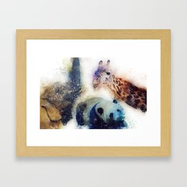 Animals Painting Framed Art Print