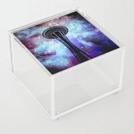Space Needle - Seattle Stars Clouds Fog Acrylic Box