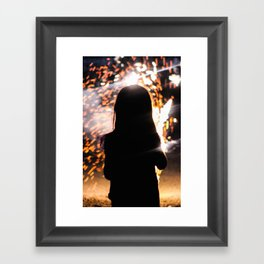Playing with Fireworks Framed Art Print
