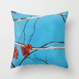 Winter Fruit Throw Pillow