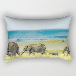African Elephants Rectangular Pillow