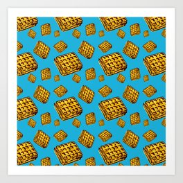 Waffle morning Art Print