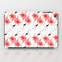 flamingos iPad Cases featuring Flamingos! by Bouffants and Broken Hearts